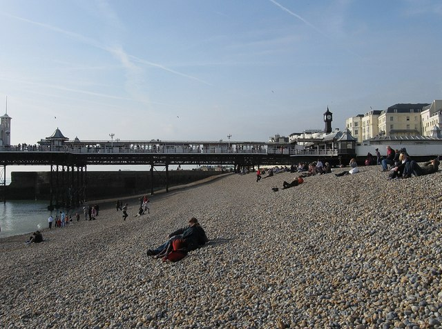 Beach next to Palace Pier