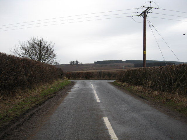 Junction of two minor roads