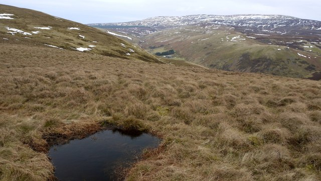 The upper Breamish valley and Cheviot plateau from Bush Knowe