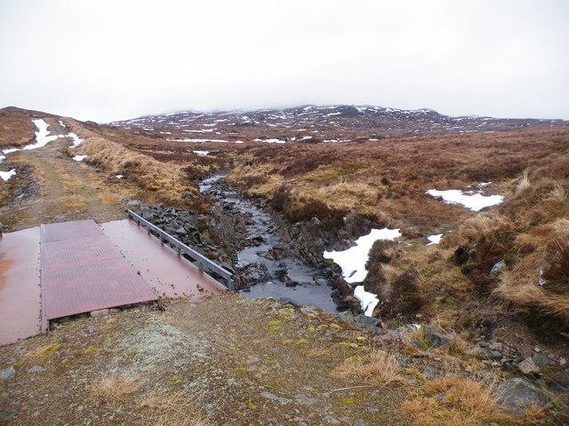Iron Bridge across Allt Loch an t-Sionnaich