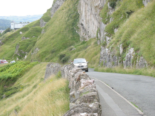The Marine Drive south of Pen-trwyn