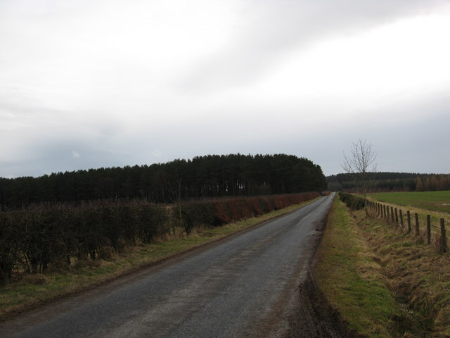 Borders road heading in southerly direction