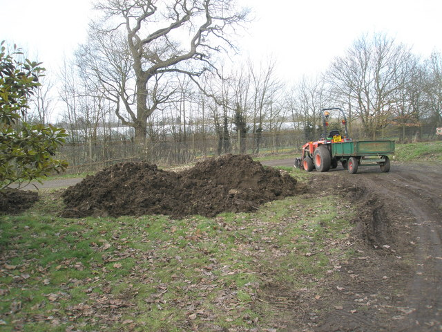 Freshly dug earth near the Jubilee Arboretum at RHS Wisley