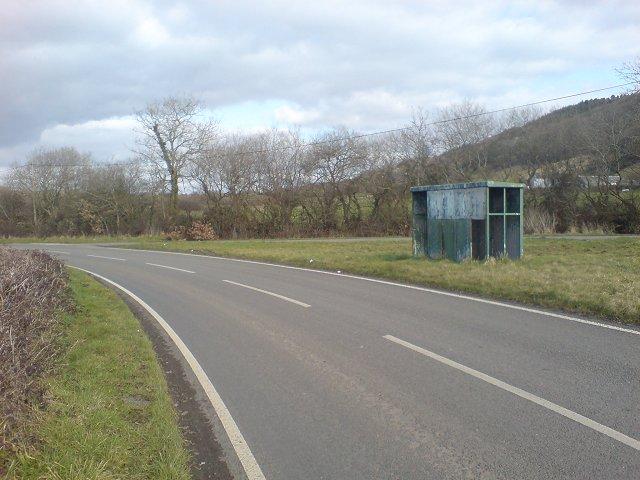 Derelict bus shelter