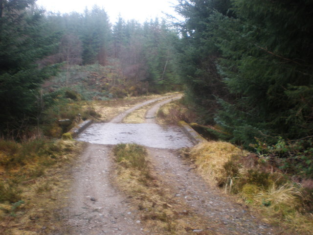 Bridge across Burn on Allt Saigh Track