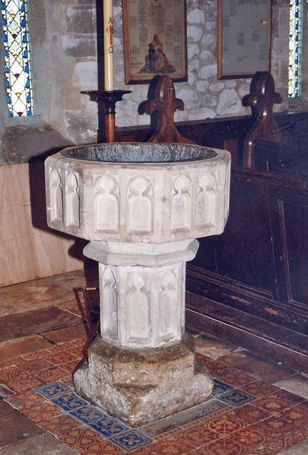 St Mary, Brighstone - Font