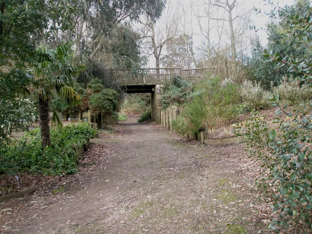 Bridge on Battleston Hill East at RHS Wisley