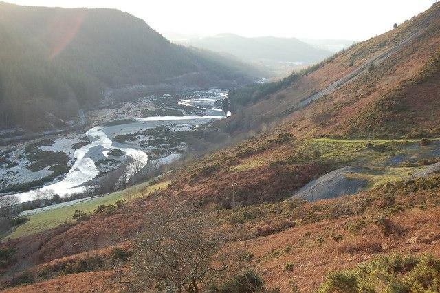 Ystwyth valley from Grogwynion