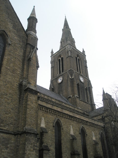 The distinctive church spire of Holy Trinity, Windsor