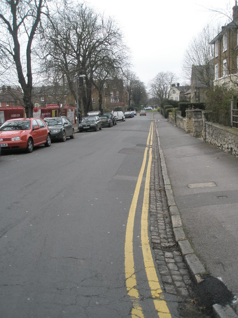 Looking southwards down Claremont Road
