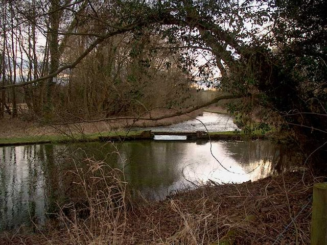 The River Test near Whitchurch, Hampshire, UK