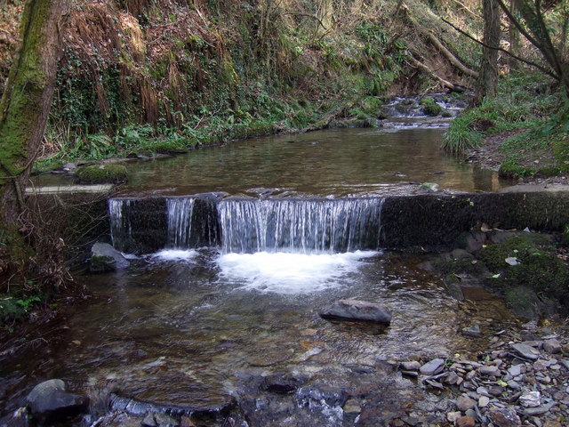 Above the waterfall, Cwm Fforest