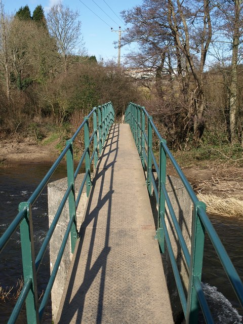 Footbridge over the Teign