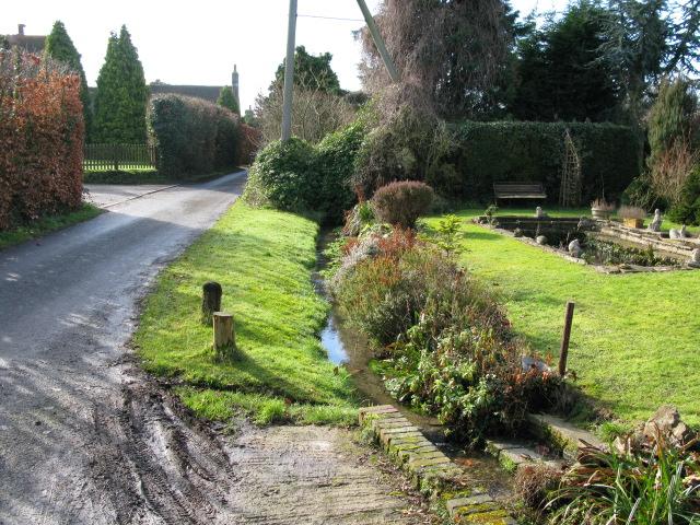 The brook of Padbrook Lane?