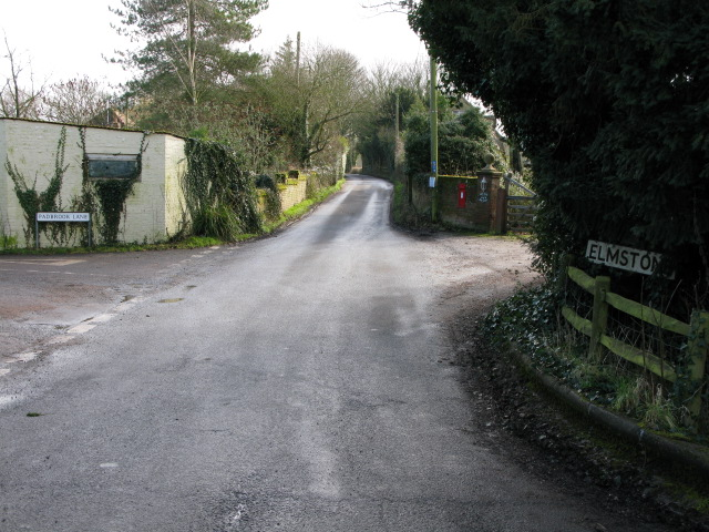 Looking SE along Sheerwater Road, Elmstone