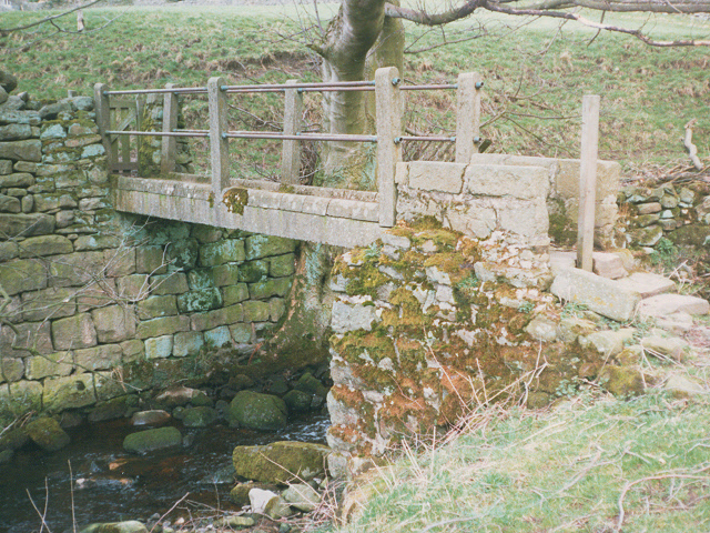 Footbridge below High Skyreholme