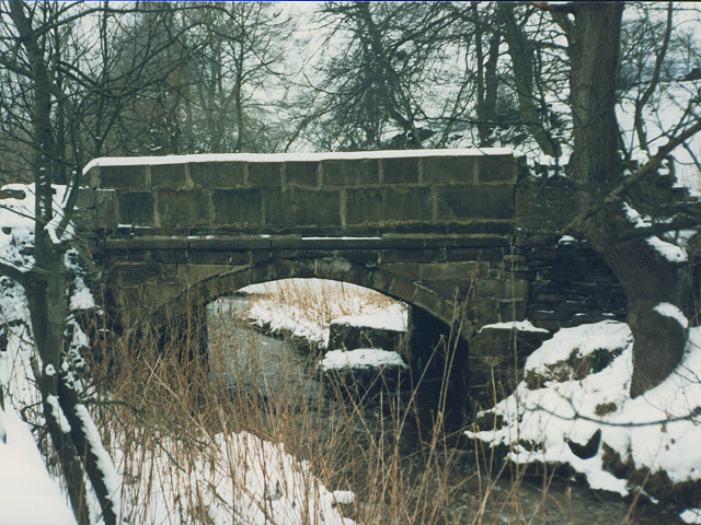 Bridge over Shibden Brook