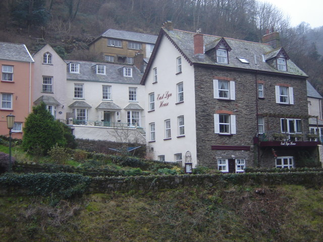 Houses on the hillside, Lynmouth