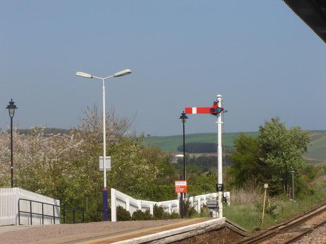 Old-style semaphore signal, Stonehaven station