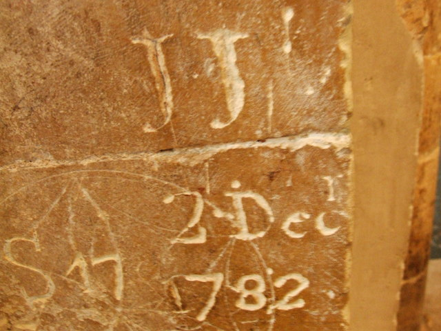 18th Century graffiti, Rochester Cathedral