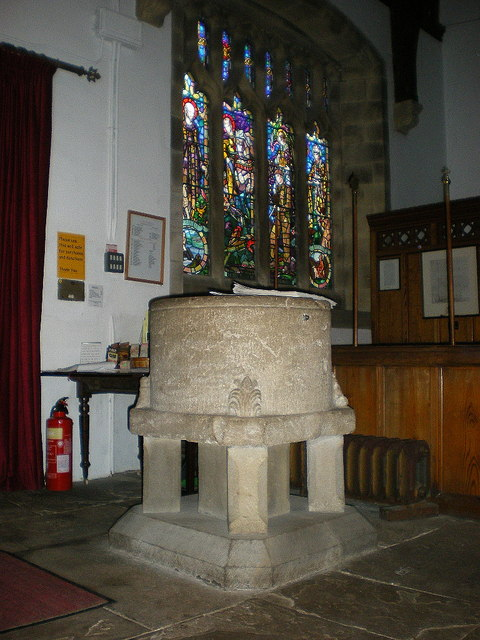 St Mary's Church, Kettlewell, Font