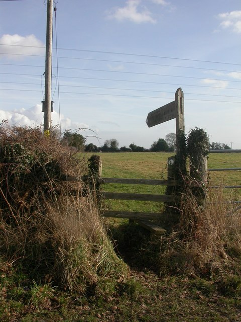 West Parley, footpath signpost