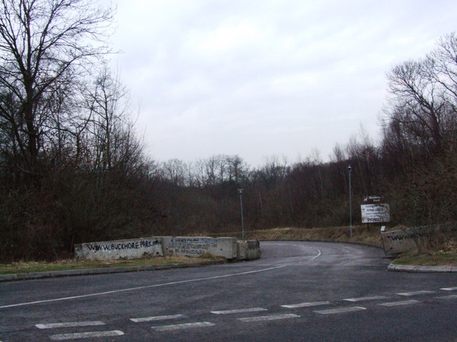 Entrance to the disused Buckmore Park Scout Centre