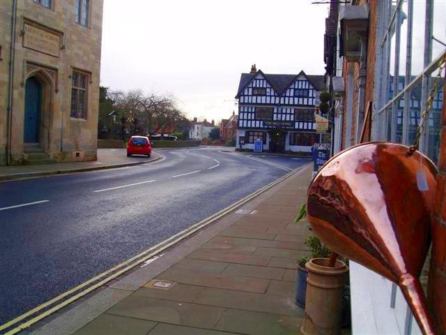 Street scene in Tewkesbury
