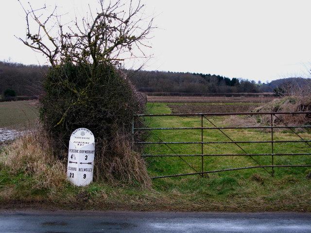 Sinnington Milepost