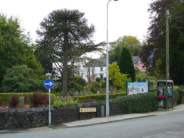 Part of graveyard behind King Street