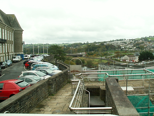 View from Square Tower, Carmarthen Castle