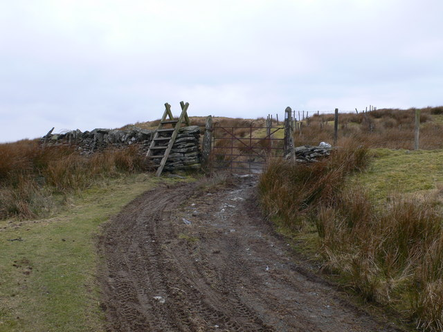 Stile and  gate on the bridleway between Ysbyty Ifan and Penmachno