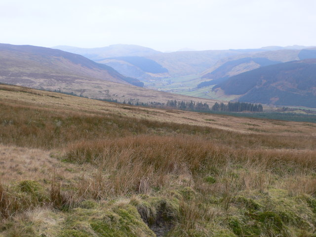 View from Bryn Llech down the Machno valley
