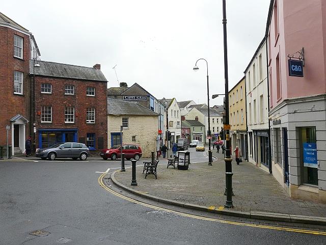 View down Blue Street