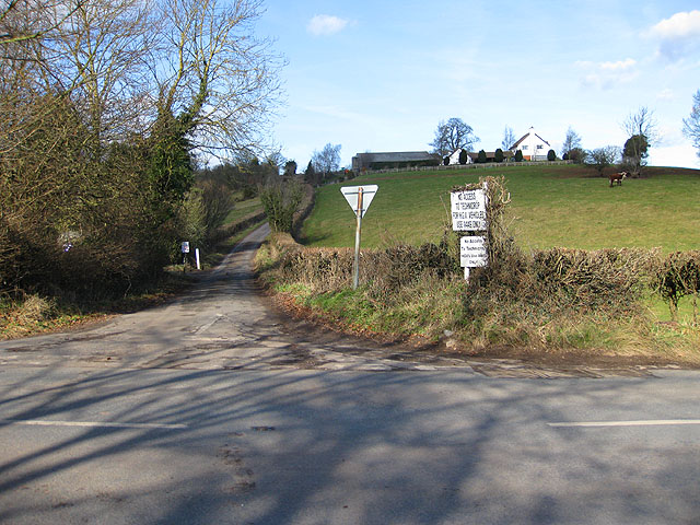 Minor road from Phocle Green to the A449