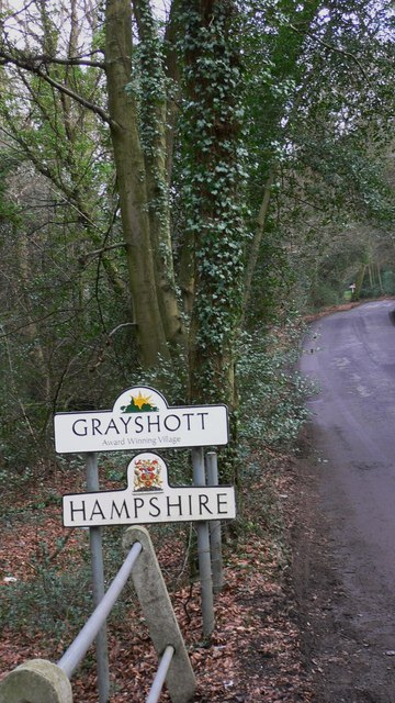 Hampshire boundary at Grayshott