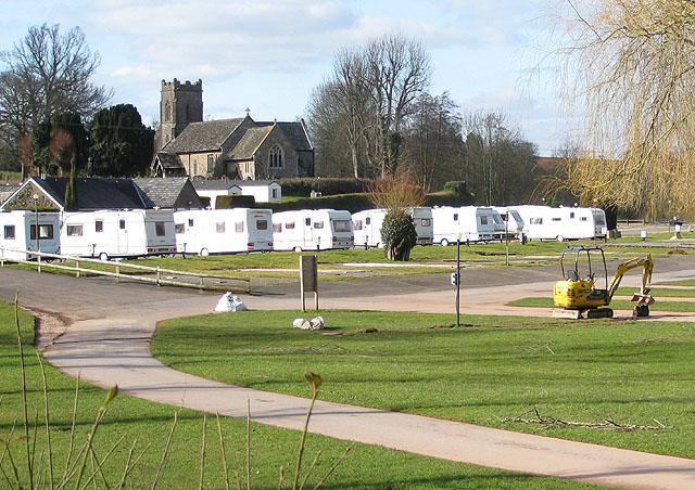 Caravan and camping site, Dingestow (Llanddingad)