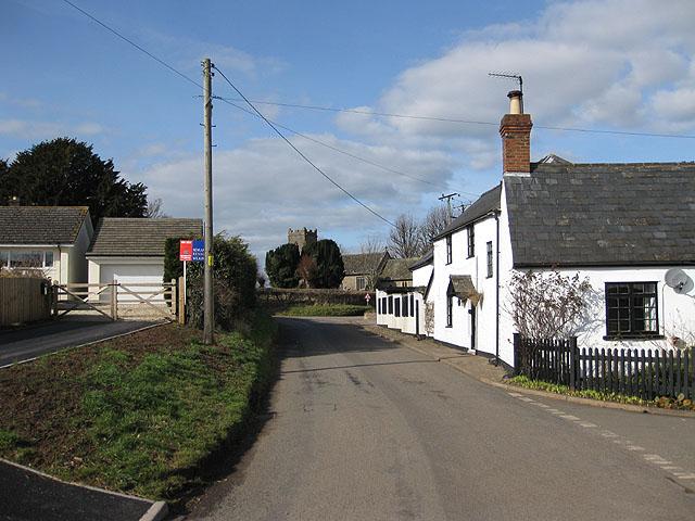Northwest view through the village