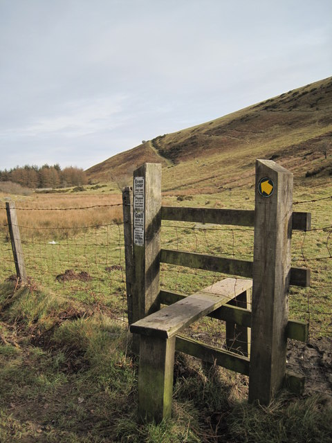 Stile and Footpath to Cilcain
