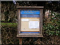 TM3374 : St.Mary the Virgin Church, Huntingfield Notice Board by Adrian Cable