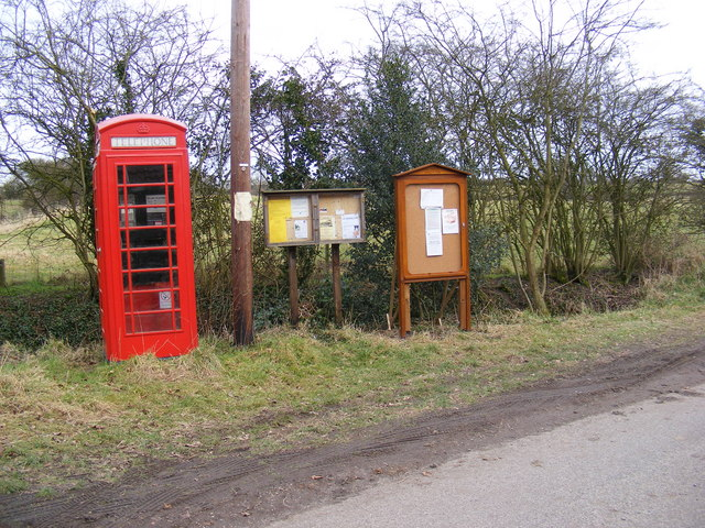Telephone Box & Notice Board, Chediston