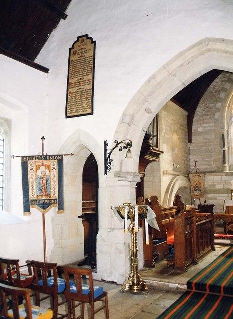 St Olave, Gatcombe - Interior