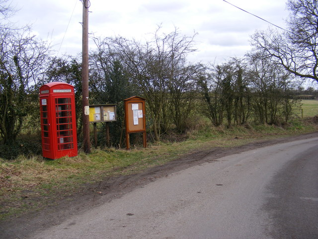 Telephone Box, Chediston Village Notice Board & Chediston Lane