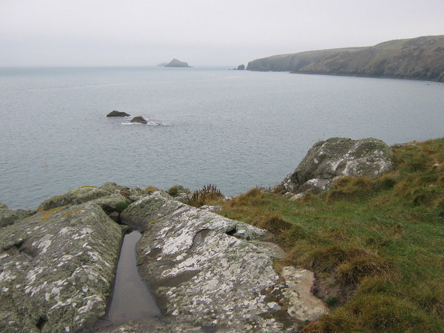 Looking southwest from Maen Gwenonwy
