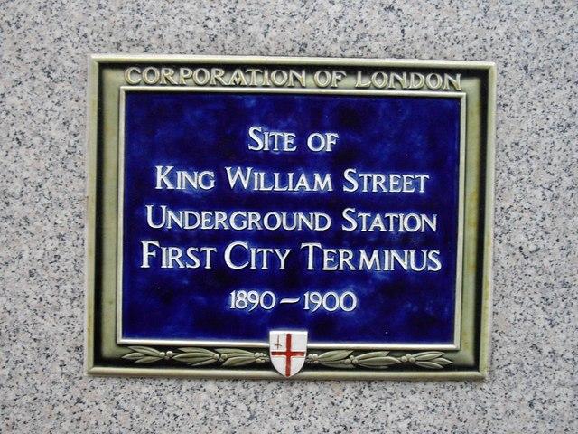 Commemorative plaque-King William Street