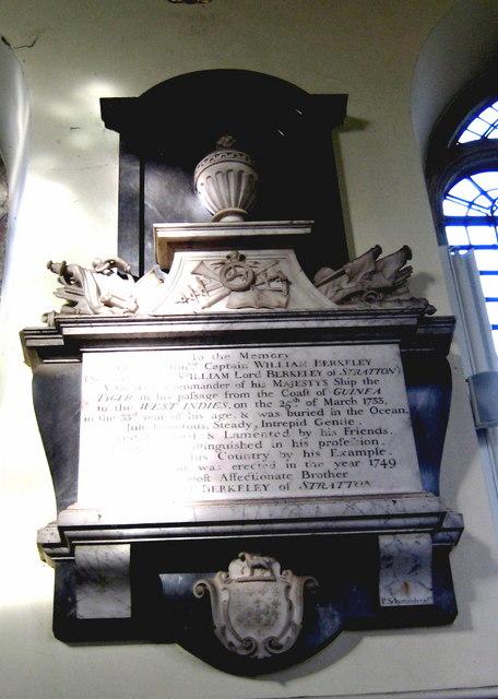 A memorial to Captain William Berkeley - Bruton