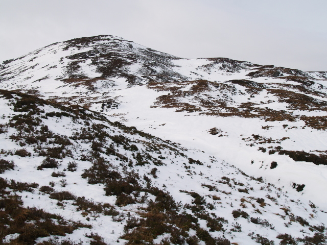 E face of Meall an t-Sithe in snow