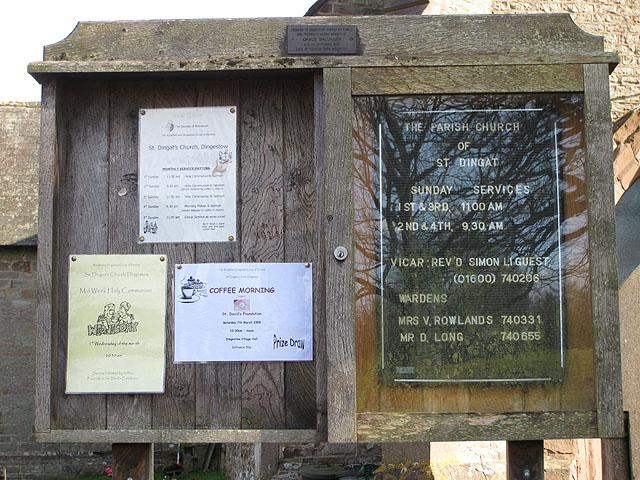 Church notice board, St. Dingat's
