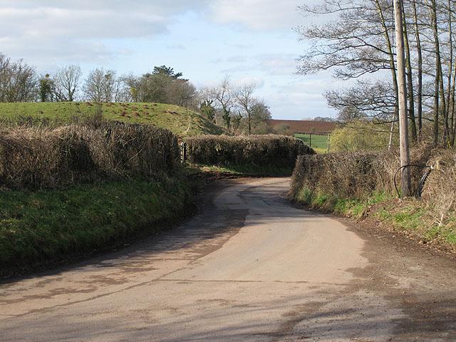 Minor road heading Northwest from Dingestow