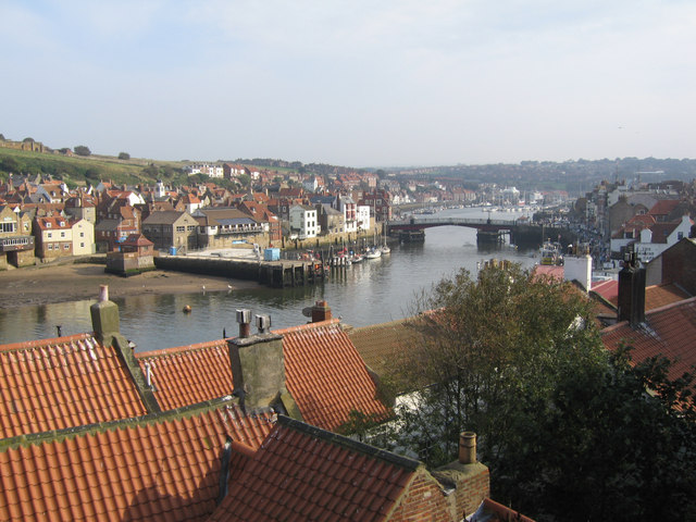 Whitby moving bridge from West Cliff